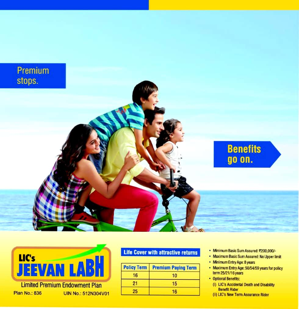LIC JeevanLabh - Best Plan for short term - Wealthy Insurance